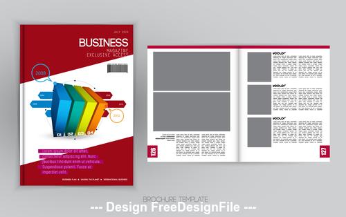 Color brochure template vector