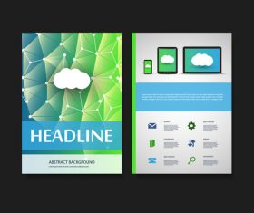 Color website flyer design template vector