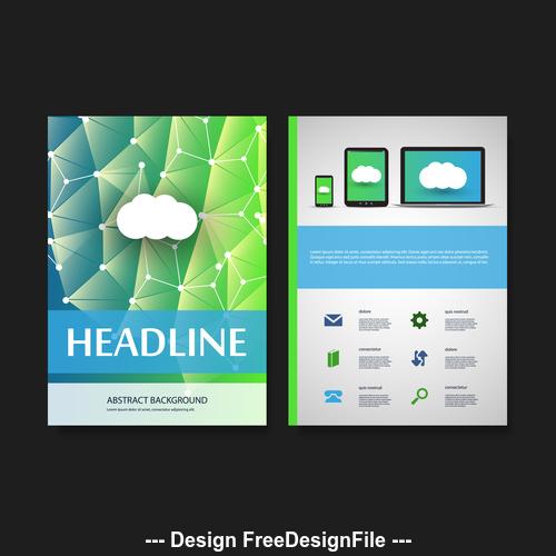Color website flyer design template vector