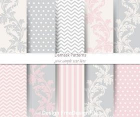 Colored damask patterns vector