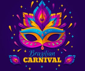 Colorful brazilian carnival vector
