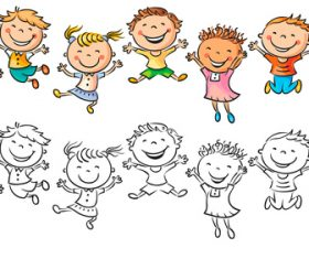 Coloring childrens drawings vector