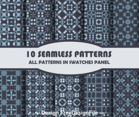Combination seamless pattern vector