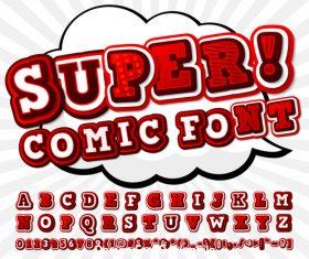 Comic font vector