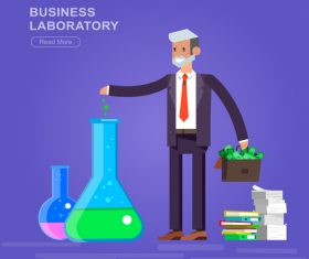 Commercial laboratory cartoon illustration vector