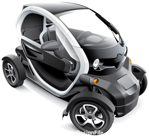Concept mini car vector