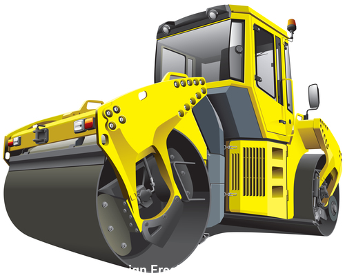 Construction roller vector