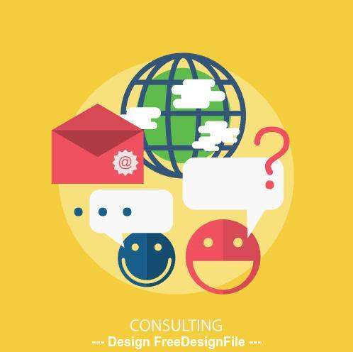 Consulting elements vector