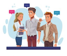 Conversation cartoon vector