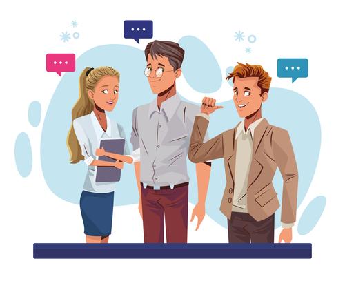 Conversation cartoon vector