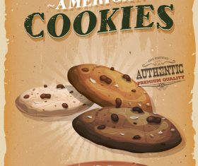 Cookies snack poster vector