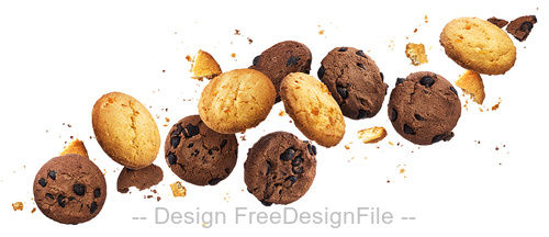 Cookies with white background vector