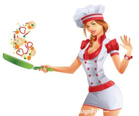Cooking cartoon vector