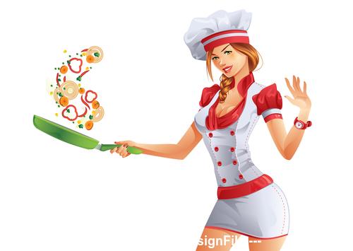 Cooking cartoon vector
