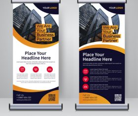 Corporate roll and banner design template vector