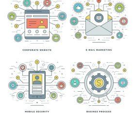 Corporate website information template vector