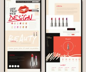Cosmetics web design vector