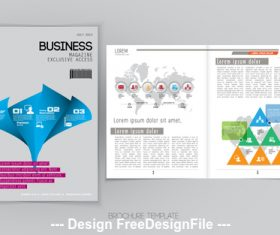 Cover business brochure vector