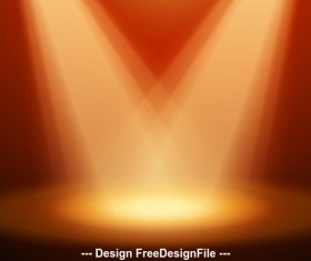 Cross spotlight effect vector