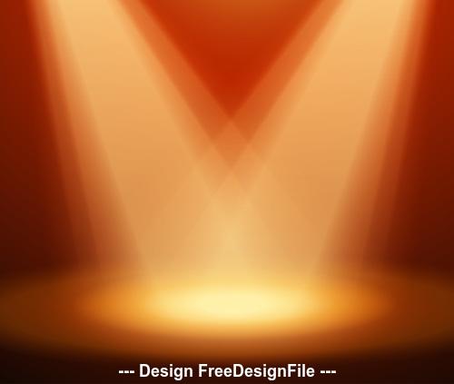 Cross spotlight effect vector
