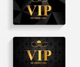 Crown VIP card vector
