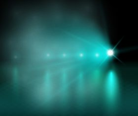 Cyan lights background vector