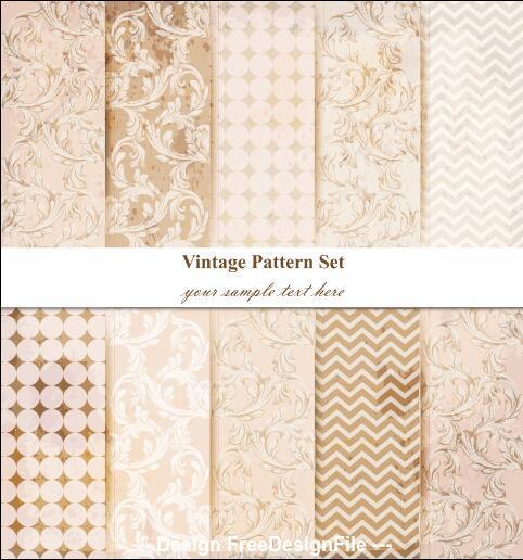 Damask flower stripes patterns vector