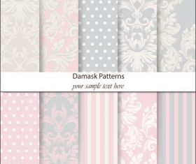 Damask patterns vector