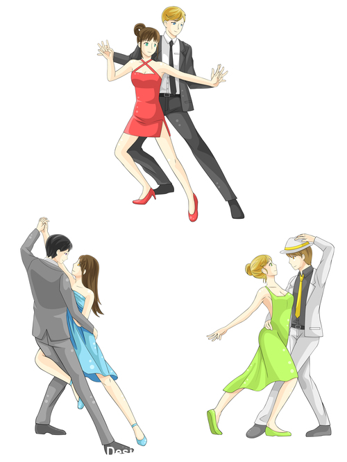 Dance cartoon character vector