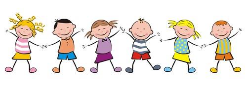 Dancing children vector