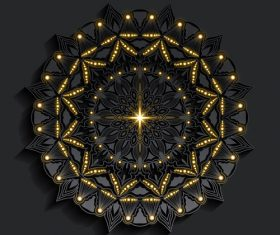 Dark beautiful mandala pattern vector