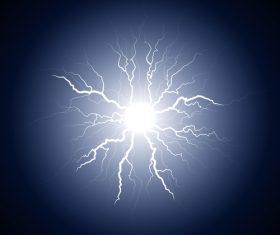 Dark blue lightning from the center vector