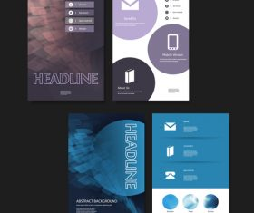 Dark flyer page design template vector