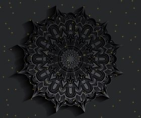 Dark mandala pattern vector