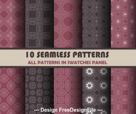 Dark red and black seamless pattern vector