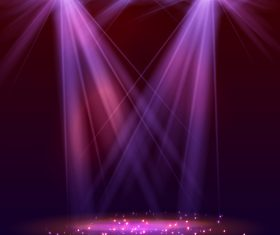 Dazzling spotlight on stage vector