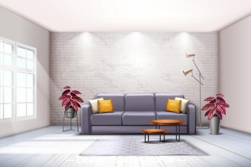 Decorative living room flower vector