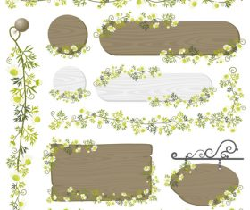 Decorative wood frame vector