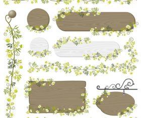 Decorative wood frame vector