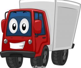 Delivery truck cartoon vector