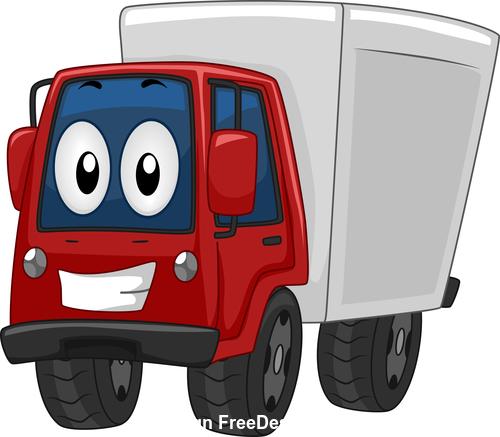 Delivery truck cartoon vector