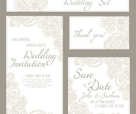 Design invitation card template vector