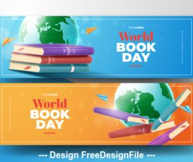 Design world book day banner vector