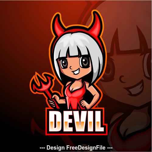 Devil gaming mascot design vector