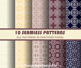 Different colors and geometric patterns vector