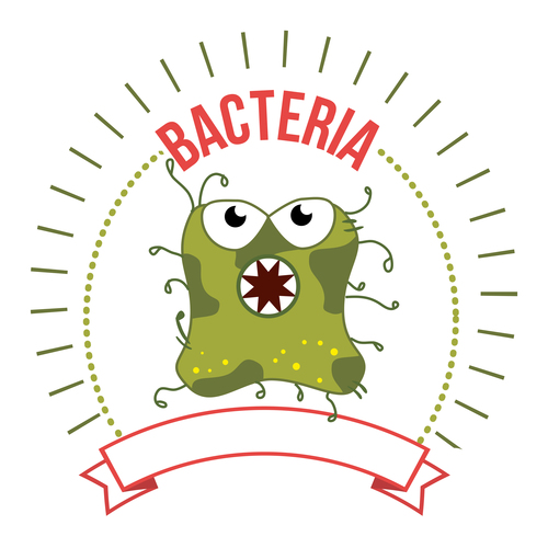 Different shaped bacteria icons vector