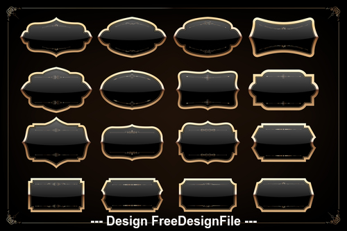 Different shapes frame vector