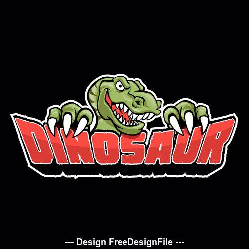 Dino logo vector