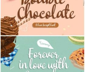 Double Chocolate Fonts