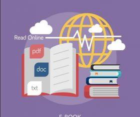 E-Book elements vector